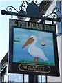 SO8318 : Pelican Inn sign by Philip Halling