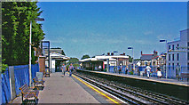 TQ2576 : Parsons Green station, 2008 by Ben Brooksbank