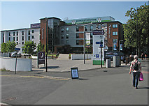SO8454 : Worcester: the approach to New Road Cricket Ground by John Sutton