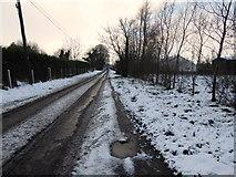 H4277 : Snow and slush along Lisnagirr Road by Kenneth  Allen