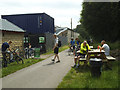 SE2023 : Cyclists at the Milepost Cafe on the Spen Valley Greenway by Stephen Craven