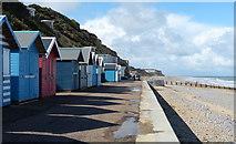 TG2142 : Beach huts and promenade at Cromer by Mat Fascione