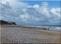 TG2142 : View west along the beach at Cromer by Mat Fascione
