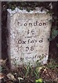 TQ0485 : Old Milestone by the A4020, Milestone Cottage - Left stone by A Rosevear & J Higgins