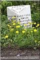 SJ4261 : Old Milepost by JV Nicholls & C Minto