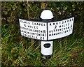 SJ7675 : Old Milepost by J Higgins