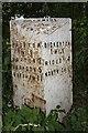 SJ4954 : Old Milepost by JV Nicholls