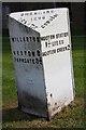 SJ3377 : Old Milepost by J Higgins & G Oakes