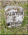 NY7446 : Old Milestone by the A689, west of Hudgillburn Bridge by M Faherty