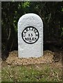 NY4274 : Old Milestone north east of Tilekiln Wood by CF Smith