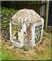 NY4459 : Old Milestone by the former A689 in Low Crosby Bridge by CF Smith