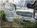 NY0734 : Old Milestone by CF Smith