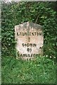 SX3283 : Old Milestone by the former A30 in Launceston by Ian Thompson