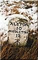 NY7935 : Old Milestone by the B6277, Harwood Common by C Minto & IA Davison