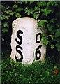 NZ3716 : Old Milestone by the former A66, Darlington Road, Longnewton by IA Davison