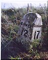 NZ1422 : Old Milestone by the A688, east of Keverstone Grange by C Minto & IA Davison