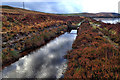 SK0099 : Leat, Higher Swineshaw Reservoir by Mick Garratt