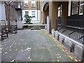 TQ3181 : Gravestones in the former churchyard of St Anne Blackfriars by Marathon