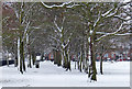 SK5801 : Snow at the Aylestone Recreation Ground : Week 50