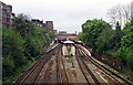 TQ2475 : Putney station, from Oxford Road bridge, 1994 by Ben Brooksbank