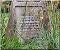 SJ8397 : St John's Cross: Base inscription (3) by Gerald England