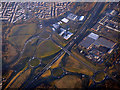 NS7761 : Newhouse roundabouts from the air by Thomas Nugent