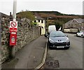SS9398 : No Concrete Lorries sign, Gwendoline Street, Tynewydd by Jaggery