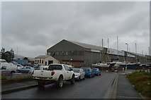 SX4853 : Former Flying Boat hangars by N Chadwick