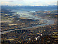 NS4871 : Dalmuir, Erskine Bridge and Firth of Clyde from the air by Thomas Nugent