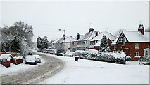 SO9095 : Mount Road in the snow, Penn, Wolverhampton by Roger  Kidd