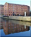 SE3033 : Former Victoria Mills alongside the River Aire by Alan Murray-Rust