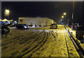 TL0328 : Snow and Ice on car park at M1 Toddington Services on 10 December 2017 by Andrew Tatlow