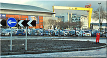 J3474 : New roundabout, Queen's Quay, Belfast - December 2017(1) by Albert Bridge