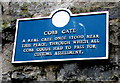 SY3492 : Cobb Gate blue plaque, Lyme Regis by Jaggery