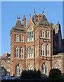SE2934 : Leeds General Infirmary, west wing south end by Alan Murray-Rust