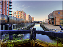 SJ8298 : Manchester, Bolton and Bury Canal, Lock #3 by David Dixon