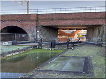 SJ8298 : Manchester, Bolton and Bury Canal, Lock #1 by David Dixon