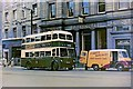 SK3536 : Derby Corporation trolleybus no. 187, Market Place, Derby by P L Chadwick