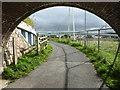 SX8671 : Under the railway - Newton Abbot by Chris Allen