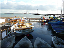 TR3140 : View from beside the Dover Sea Sports Centre by John Baker