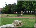 SJ8497 : Bee Sculpture in Gartside Gardens by Gerald England