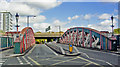 TQ2581 : Entrance to Royal Oak station, over Lord's Hill Bridge, 2010 by Ben Brooksbank