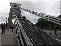 ST5673 : Chains of Clifton Bridge by Stephen Craven