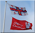 TA1766 : Flags, new lifeboat station, Bridlington by JThomas