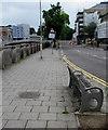 SS9079 : Roadside bench, Angel Street, Bridgend by Jaggery