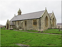 SH3568 : St Beuno's Church at Aberffraw by Peter Wood