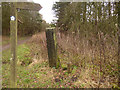 SE2244 : Old gatepost near Keeper's Cottage by Stephen Craven
