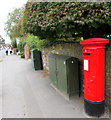 SU1969 : King George VI pillarbox and two telecoms cabinets, London Road, Marlborough by Jaggery