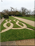 SE5158 : Beningbrough Hall, pattern in gravel by Stephen Craven