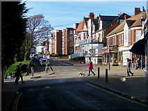 TM3034 : Felixstowe: at the top of Bent Hill by John Sutton